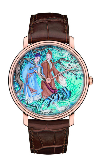 blancpain Haute Couture Painting Enemal Replica Watches