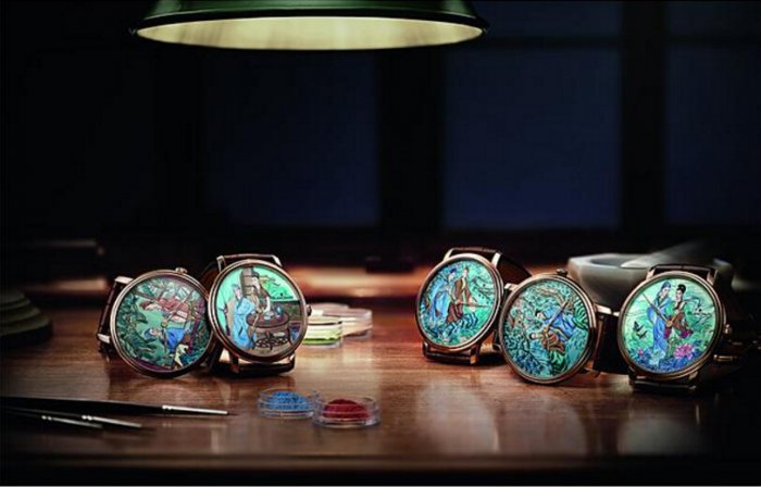 Blancpain Haute Couture Painting Enemal Liangzhu Series Copy Watches