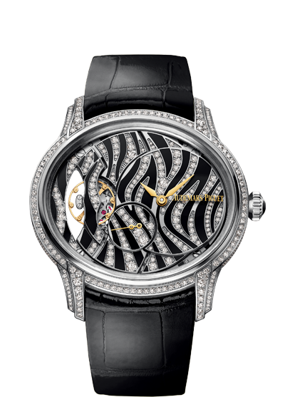 New Creative Ladies' Audemars Piguet Millenary Fake Watches With White Gold Cases
