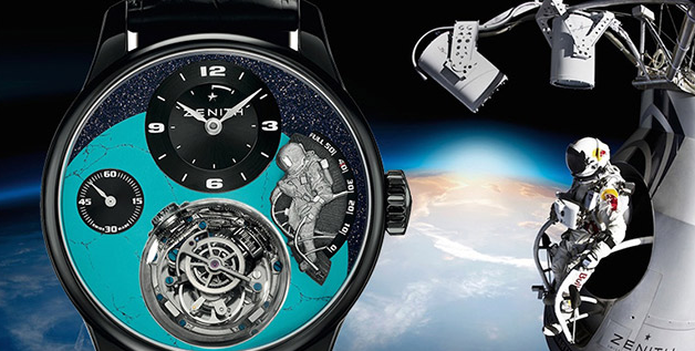Special Black Cases Zenith Academy Christophe Colomb Copy Watches To Commemorate Felix Baumgartner