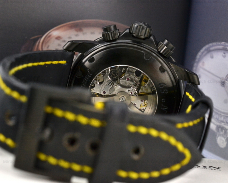 Black and Yellow Blancpain Fifty Fathoms Speed Command Flyback Chronograph  45 mm Replica Watch