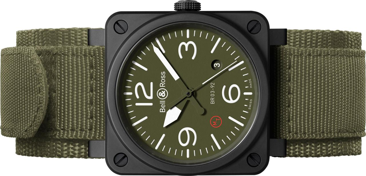 bell ross br03 92 ceramic military type replica watch