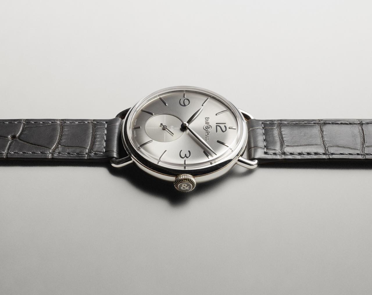 bell & ross vintage ww1 argentium ruthenium dial