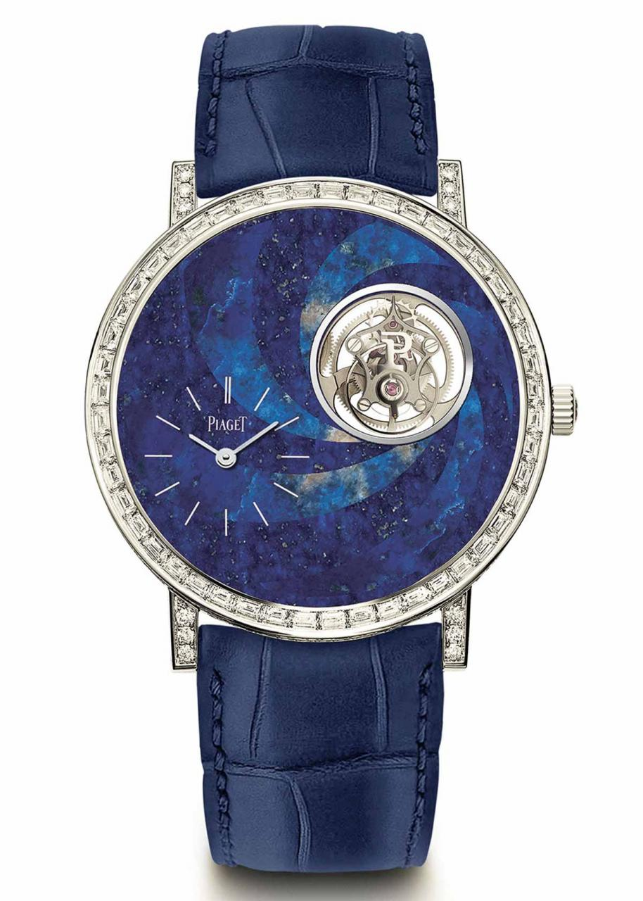 Two Altiplano tourbillon in stone marquetry
